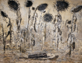Anselm Kiefer, The Orders of the Night, 1996. Emulsion, acrylic and shellac on canvas. 356 x 463 cm. Seattle Art Museum. Gift of Mr. and Mrs. Richard C. Hedreen. Photo Seattle Art Museum / © Anselm Kiefer.