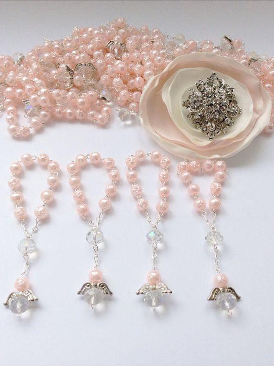 Recuerdos de Bautizo niña pulsera perlas elegante