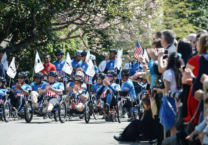 Recumbents dominate front row in Soldier Ride DC