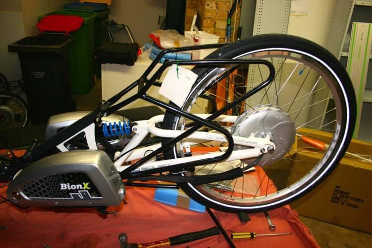 back wheel and frame