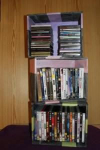 6 caisse a vin dvd cd livres