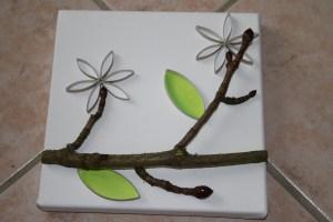 15 coller fleurs rouleau papier toilette