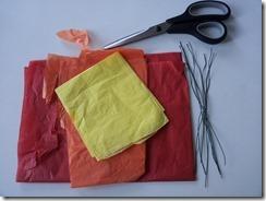 01 coquelicot fil de fer papier de soie DIY