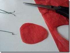 04 coquelicot fil de fer papier de soie DIY