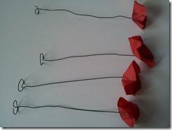 09 coquelicot fil de fer papier de soie DIY