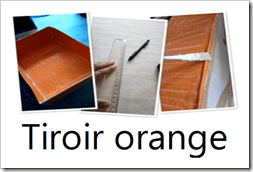 tiroir orange