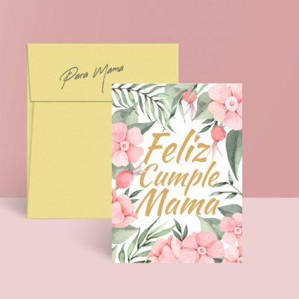 tarjetas imprimibles gratuitas feliz cumpleaños mama