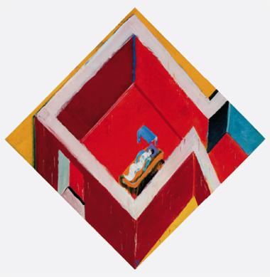 """Juan Navarro Baldeweg. """"Habitación roja con figura"""", 2005. Colección Fundación Botín, Santander"""