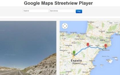 Streetview Player-recorrido-virtual
