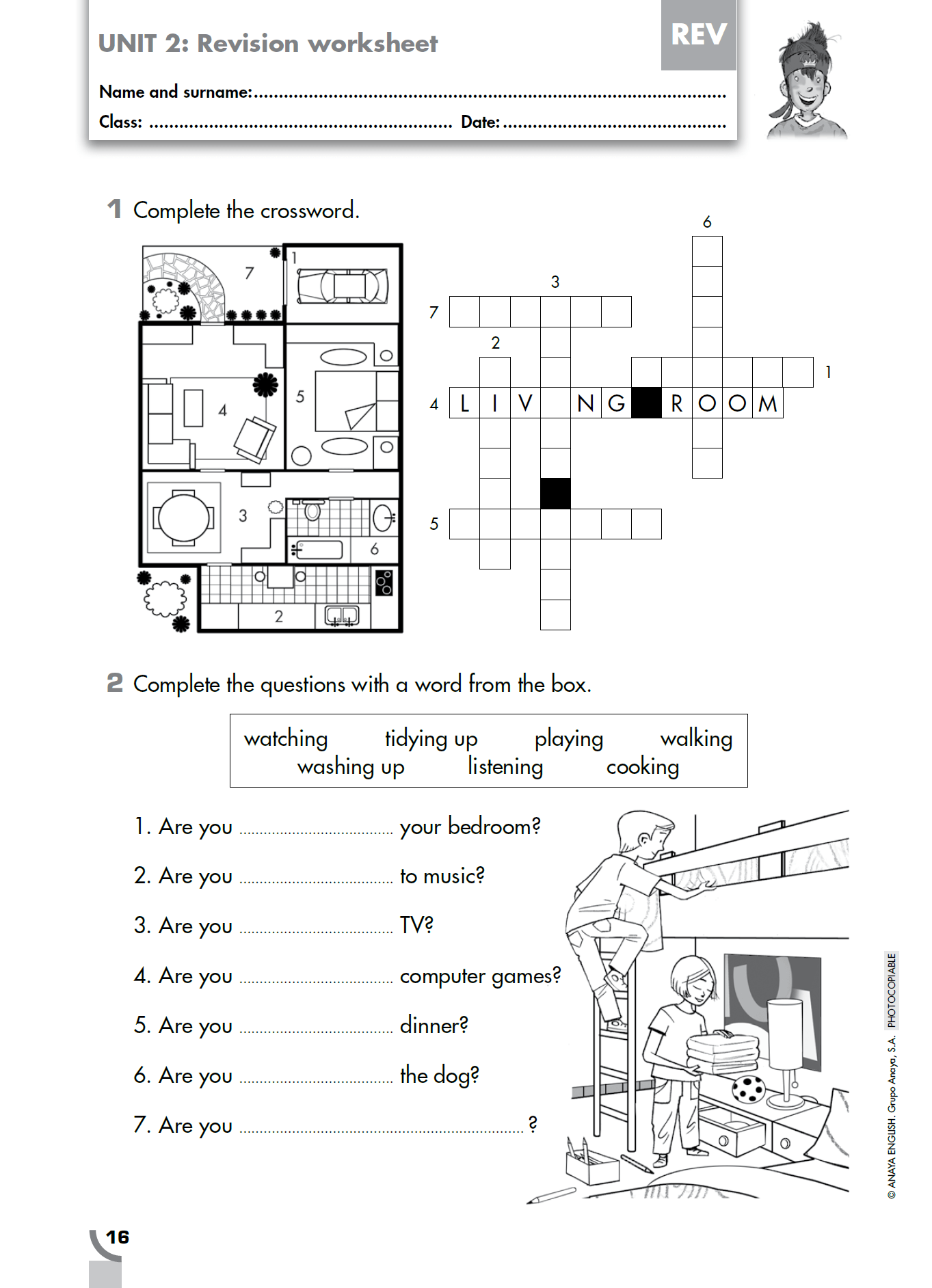 La Hora Worksheet