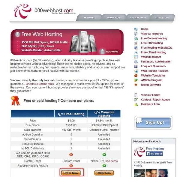 registro de 000webhost