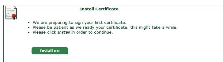Instalar certificado