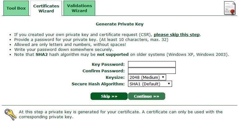 Peticion de datos de certificado