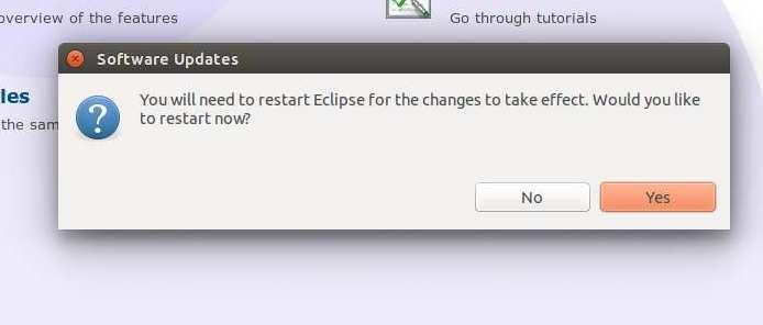 Instalacion de Aptana en Eclipse. Finalizacion