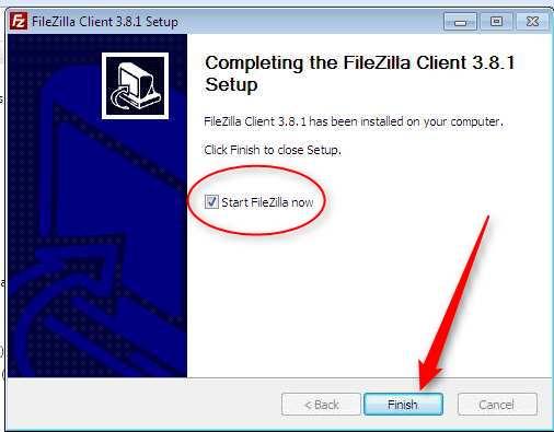 Instalacion de Filezilla. Finalizacion