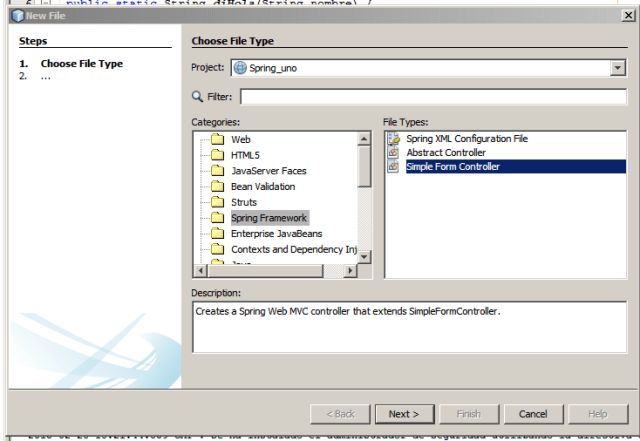 netbeans y spring. Simple Form Controller
