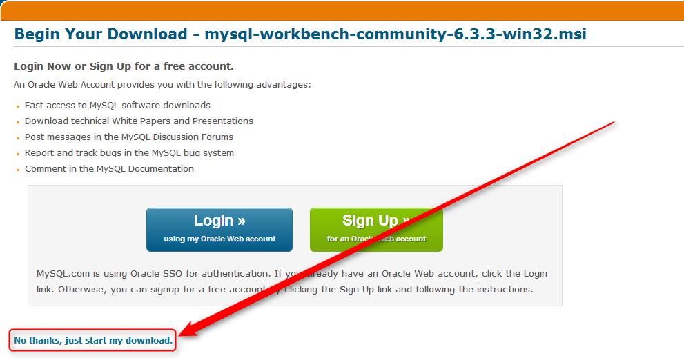 Workbench - Descargar el instalador