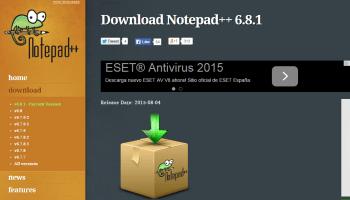 Descarga de Notepad++