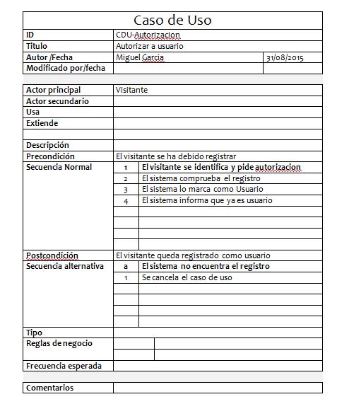 Caso de uso autorizacion de registro