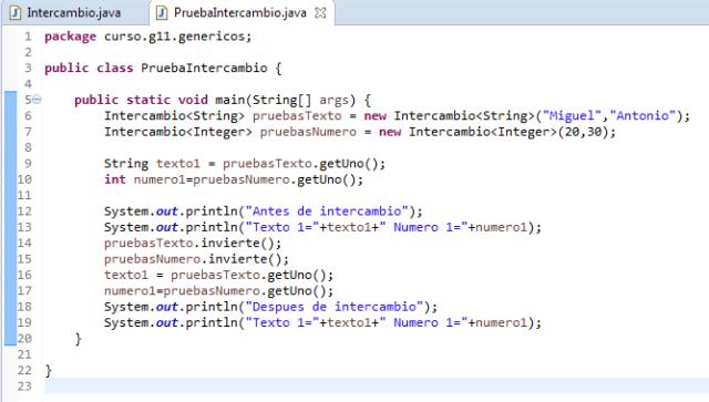 Java, trabajando con genericos