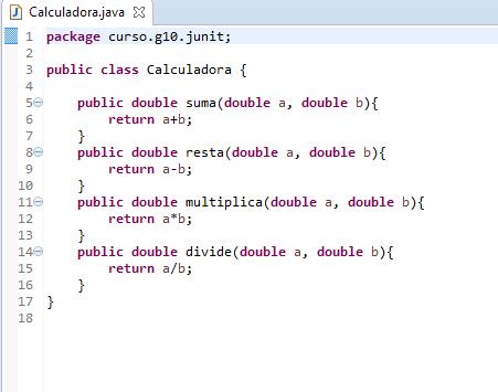 Java Calculadora para JUNIT