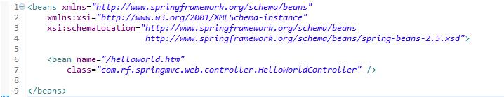 servlet.xml en aplicacion Spring