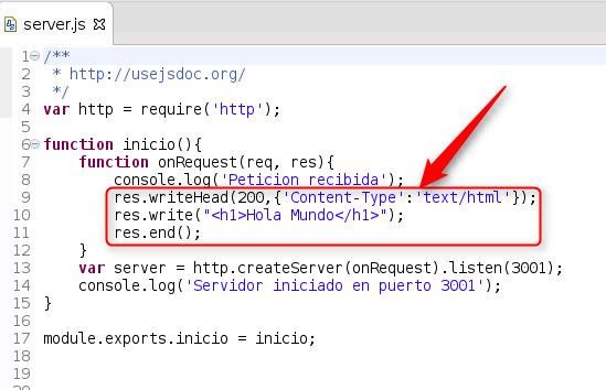 node.js - respuesta