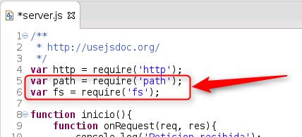 Node.js - incorporando path y fs
