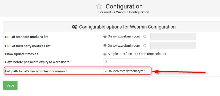 webmin instalando letsencrypt