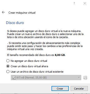 Creando disco virtual para instalar Android