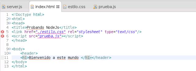 node.js html de prueba