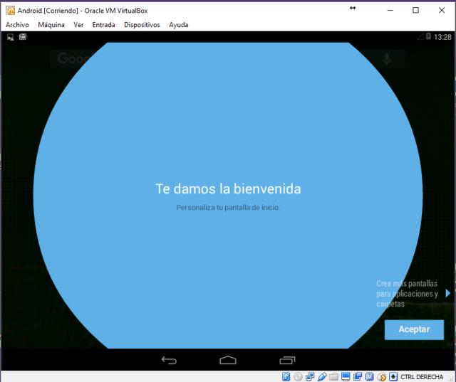 Android en VirtualBox. Bienvenida