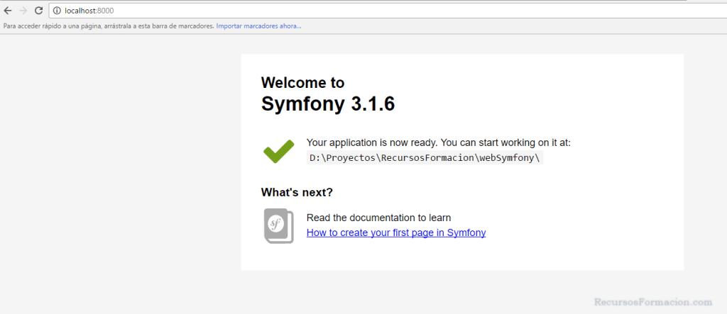 Symfony-primera página