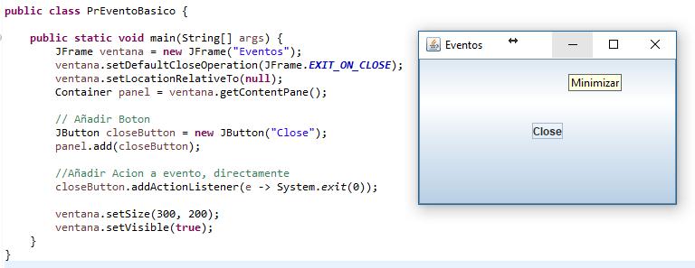 ejemplo de utilizacion del evento Close en java swing