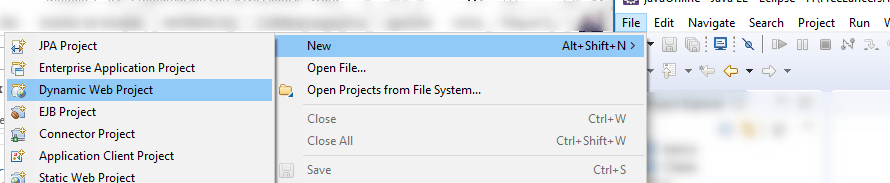 Pantalla de Eclipse para la creacion de un servlet