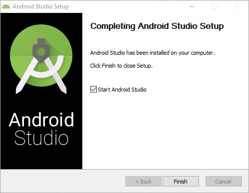 Finaliza instalacion Android Studio