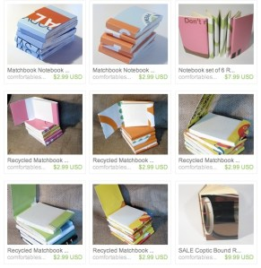 recycled matchbook notebooks