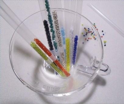 how to make seed bead straw storage