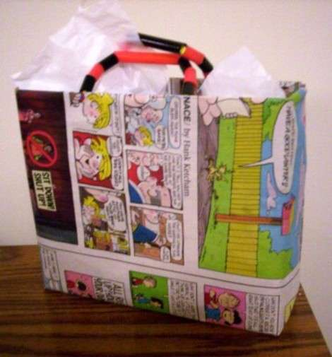 Cereal box and Sunday Comics Father's Day Gift Bag ...