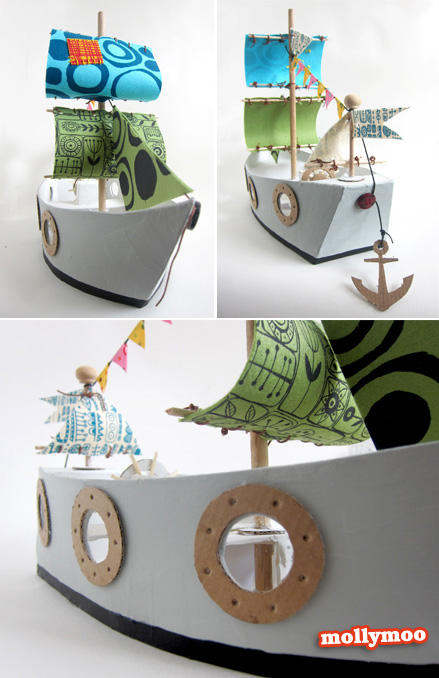 How To Make Toy Pirate Ship 32