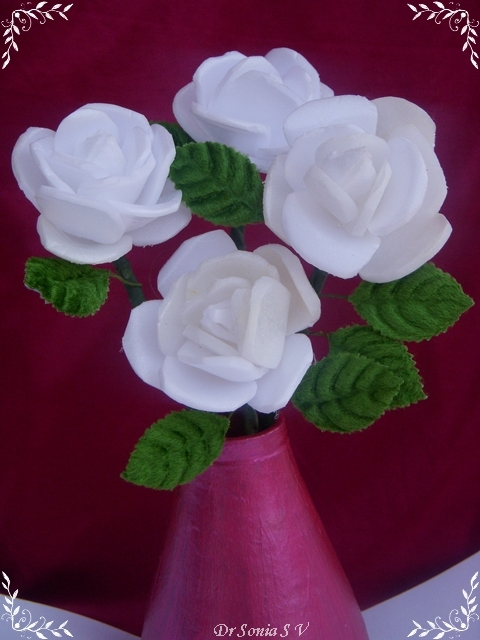 How To Make Recycled Styrofoam Tray Flowers Recycled Crafts