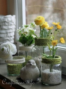 Recycling_Craft_for_Spring_-_Jar_Flower_Vases_1