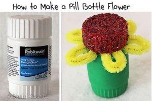 1-PIll-Bottle-Flower-Craft