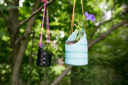 How to make recycled plastic bottle plant holders