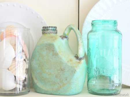 How to make a recycled plastic bottle into a faux pottery pitcher