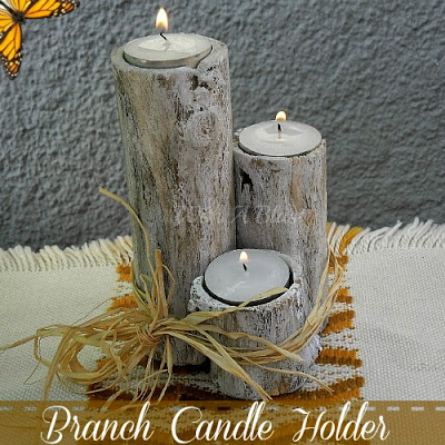 How to make branch candle holders