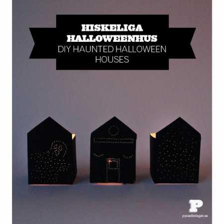 How to make Handkerchief Halloween ghosts and milk carton houses