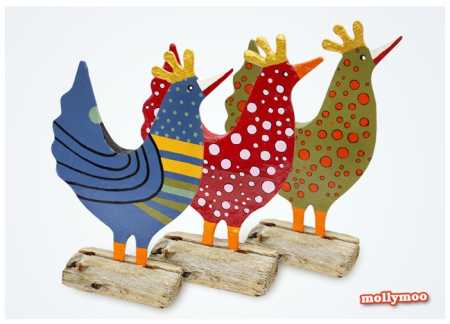 How to make recycled paper chickens