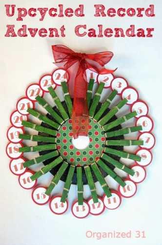 Diy Advent Calendar Wreath : How to make an advent calendar wreath recycled crafts