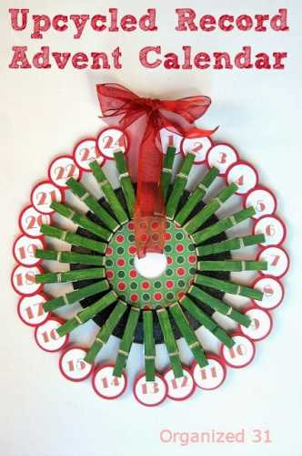 How to make an Advent calendar wreath